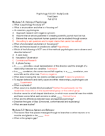 PSY 100 - Study Guide