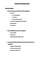 Cal State Fullerton - CHD 301 - Study Guide - Final