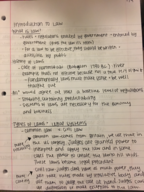 LEGL 2700 - Class Notes - Week 1