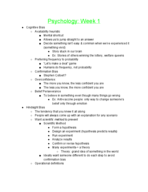 Baylor University - PSY 1305 - Class Notes - Week 1
