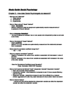 PSY 3623 - Study Guide