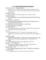 Tarrant County College - His 1301 - Class Notes - Week 1