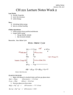 UO - CHEM 222 - Class Notes - Week 2