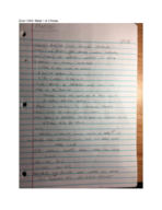 ECON 1040 - Class Notes - Week 2
