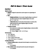 ASU - PHY 111 - Study Guide - Midterm
