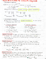PHY 1 - Study Guide
