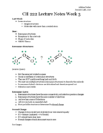 UO - CHEM 222 - Class Notes - Week 3