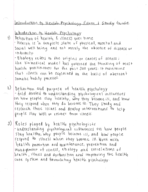 PSY 4314 - Study Guide