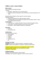 COMM 215 - Study Guide