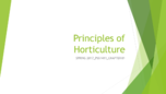 horticulture study guide