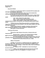 ECON 2100 - Class Notes - Week 5