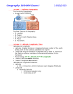 GY  101 - Study Guide