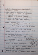 What is an equilibrium constant?