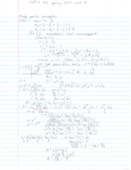 MATH 182 - Class Notes - Week 4
