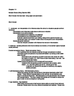 PSY 351 - Study Guide