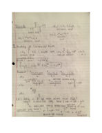 CHE 232 - Class Notes - Week 7