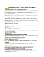 ACCT 2102 - Study Guide