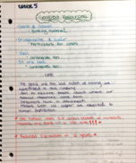 Earth Science 100 - Class Notes - Week 5