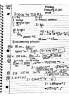 CH 101 - Class Notes - Week 7