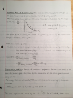 ECON 2101 - Class Notes - Week 6