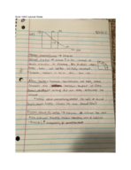 ECON 1040 - Class Notes - Week 8