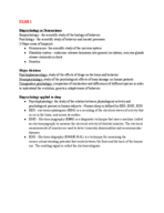 PSYCH 2012 - Class Notes - Week 1
