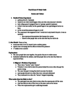 PSYCH 101 - Study Guide