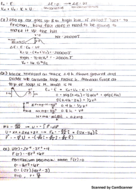 UMB - PHYS 161 - Class Notes - Week 7