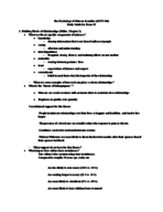 APSY 340 - Study Guide
