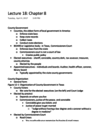 POLS 207 - Class Notes - Week 10