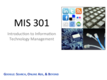 MIS 301 - Study Guide