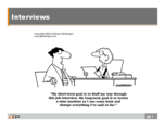 What are the formats of interview?