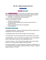 PSYCH 2012 - Study Guide