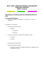 BISC 1008 - Study Guide