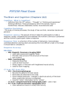 PSY 250 - Study Guide