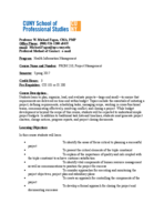 CUNY - PROM 210 - Study Guide