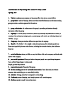 PSY 002 - Study Guide