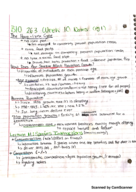 CalPoly - BIOL 263 - Class Notes - Week 10