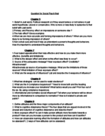 PSY 220 - Study Guide