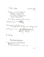 comp sci 1010br class notes