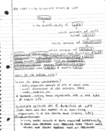 BIOL 1114 - Class Notes - Week 1