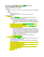 PSY 11762 - Class Notes - Week 2