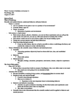 PSYCH 105 - Study Guide