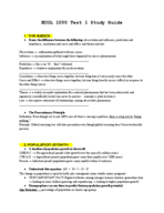 ECOL 1000 - Study Guide