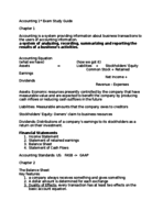 ACCT 2001 - Study Guide