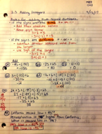 MATH 097 - Class Notes - Week 2
