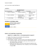 ACCT 2101 - Study Guide