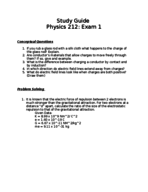 PHYS 212 - Study Guide