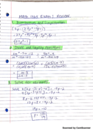 exponents study guide