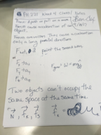 PHPHYSICS 221 - Class Notes - Week 4